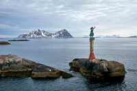Monument to fisherman's wives, Svolvaer Harbor