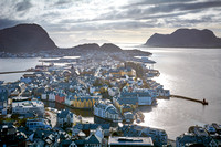 View from Aksla overlooking Alesund